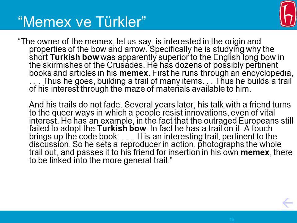 Memex ve Türkler