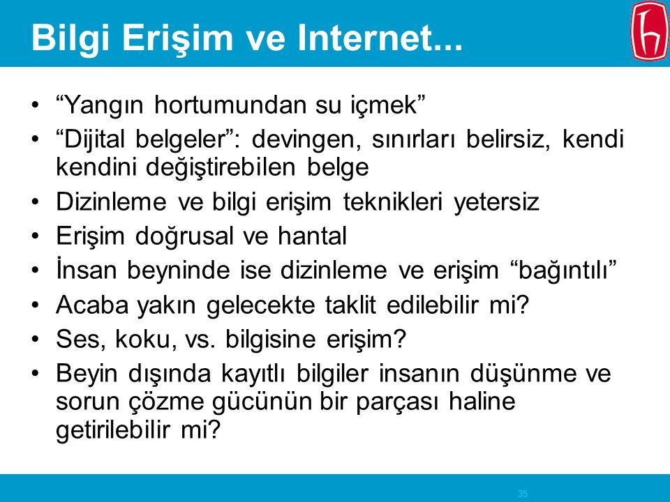 Bilgi Erişim ve Internet...