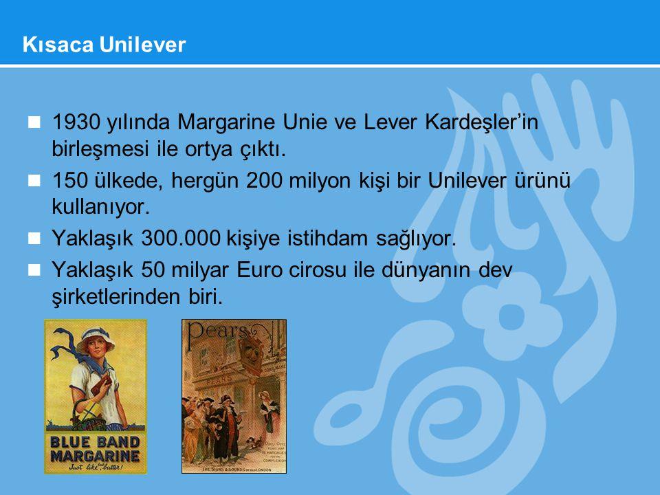 Kısaca Unilever 1930 yılında Margarine Unie ve Lever Kardeşler'in birleşmesi ile ortya çıktı.