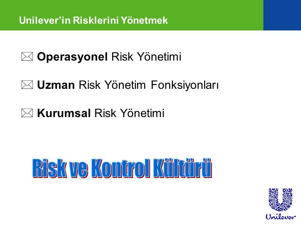 Unilever'in Risklerini Yönetmek