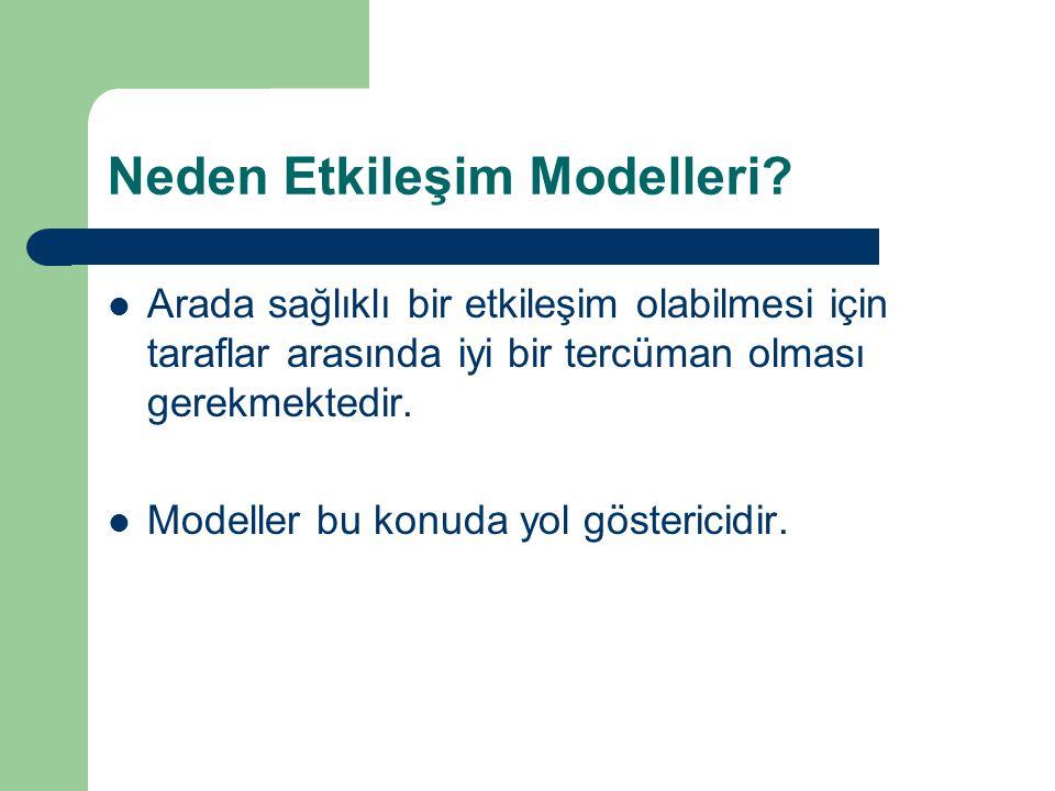 Neden Etkileşim Modelleri