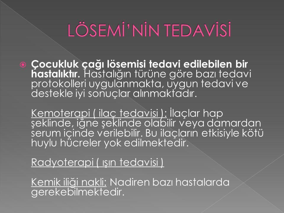 LÖSEMİ'NİN TEDAVİSİ