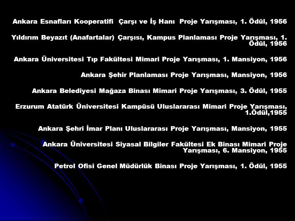 Ankara Esnafları Kooperatifi Çarşı ve İş Hanı Proje Yarışması, 1