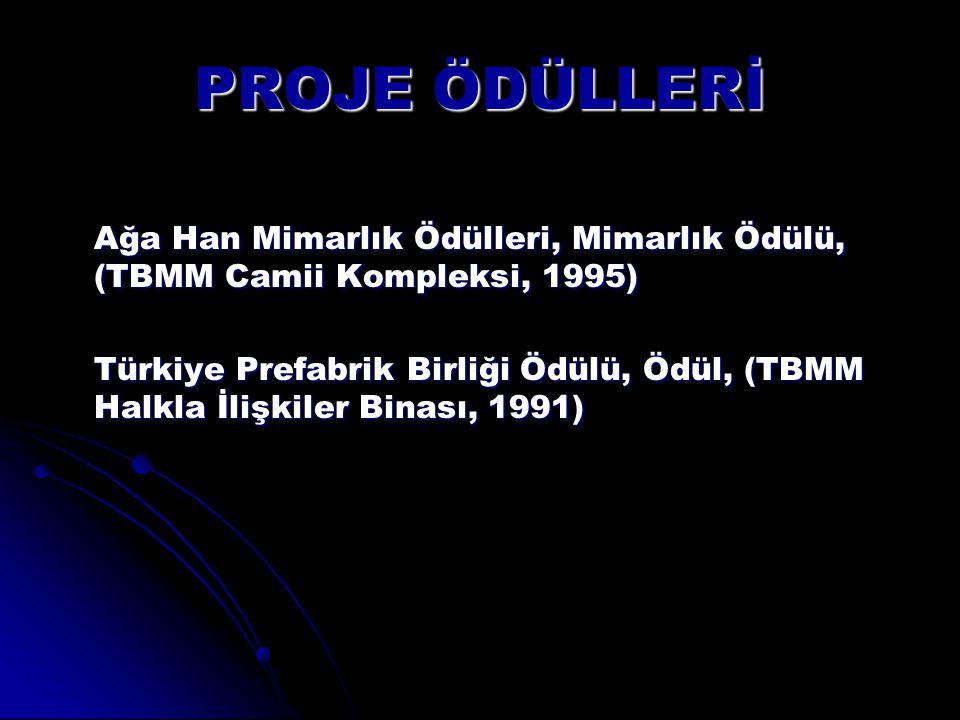 PROJE ÖDÜLLERİ Ağa Han Mimarlık Ödülleri, Mimarlık Ödülü, (TBMM Camii Kompleksi, 1995)