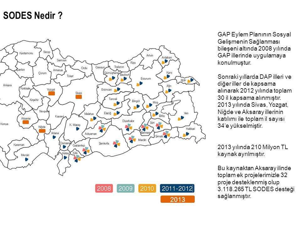SODES Nedir 2013. GAP Eylem Planının Sosyal Gelişmenin Sağlanması bileşeni altında 2008 yılında GAP illerinde uygulamaya konulmuştur.