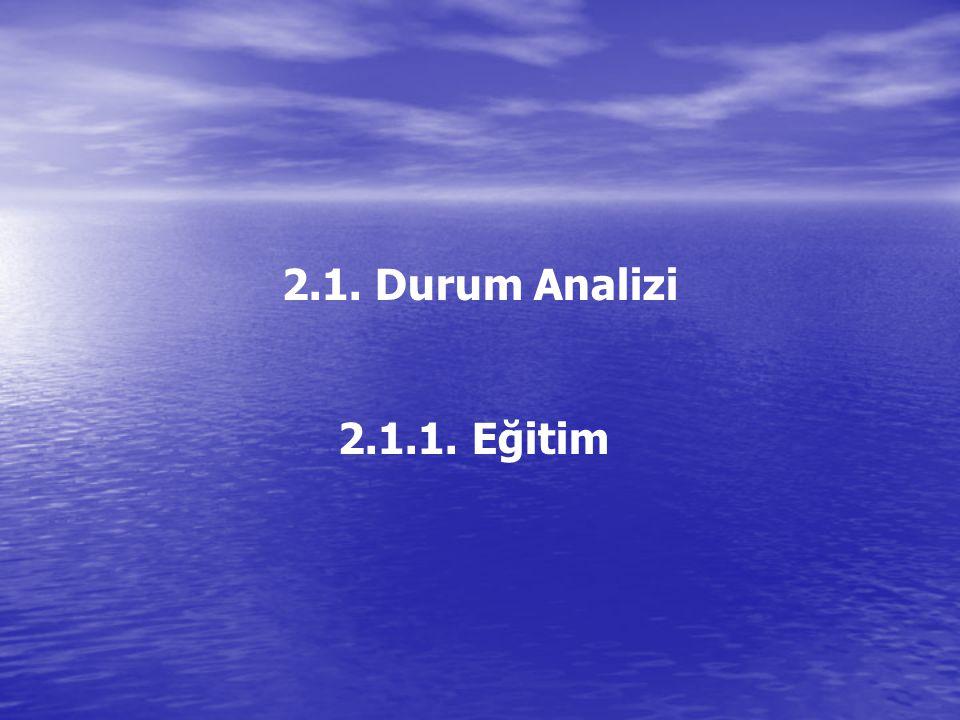 2.1. Durum Analizi 2.1.1. Eğitim