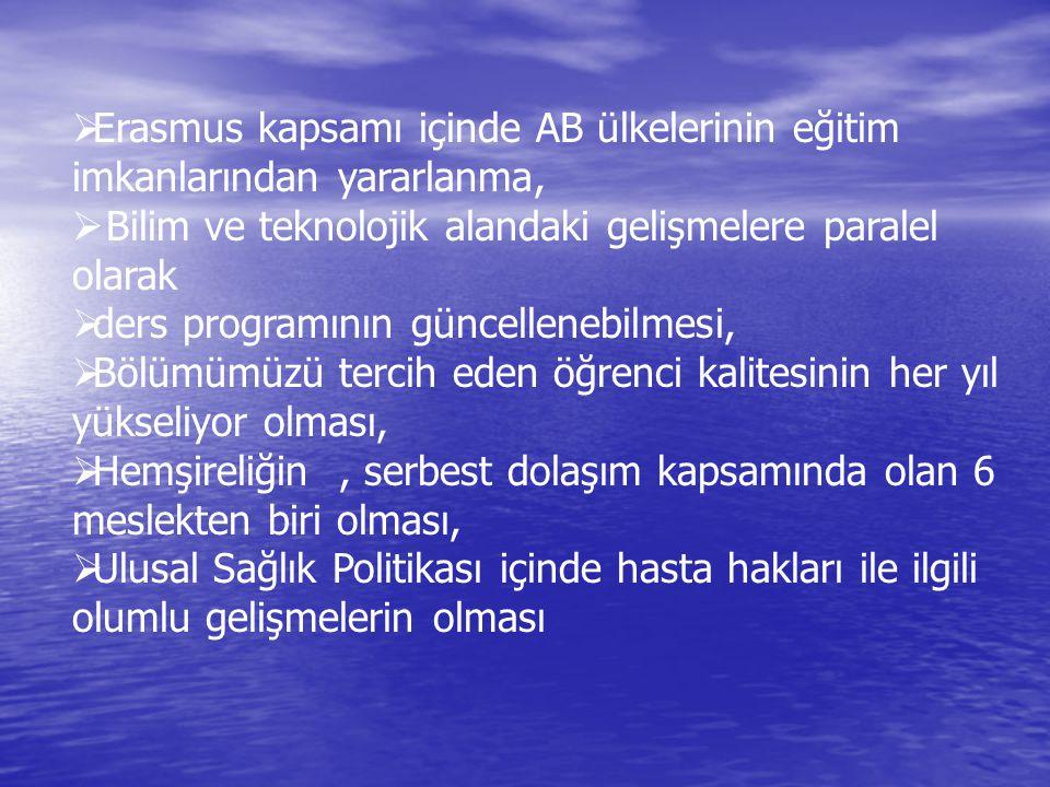 Erasmus kapsamı içinde AB ülkelerinin eğitim imkanlarından yararlanma,