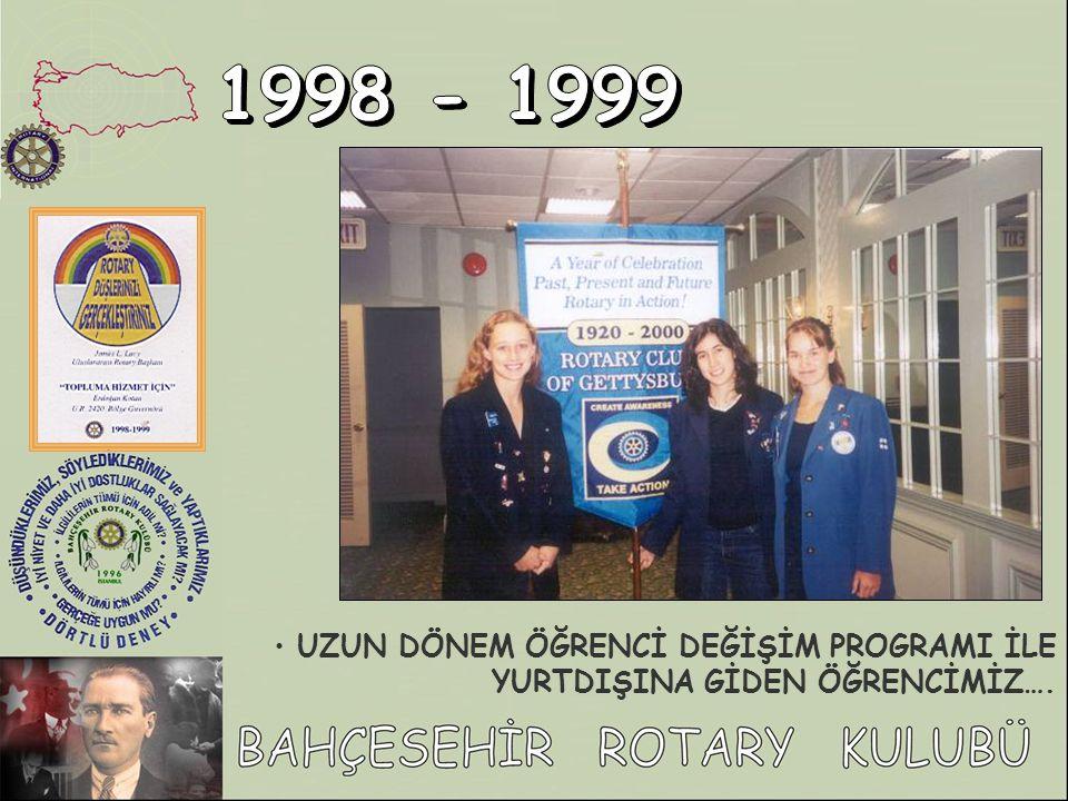1998 - 1999 UZUN DÖNEM ÖĞRENCİ DEĞİŞİM PROGRAMI İLE YURTDIŞINA GİDEN ÖĞRENCİMİZ….