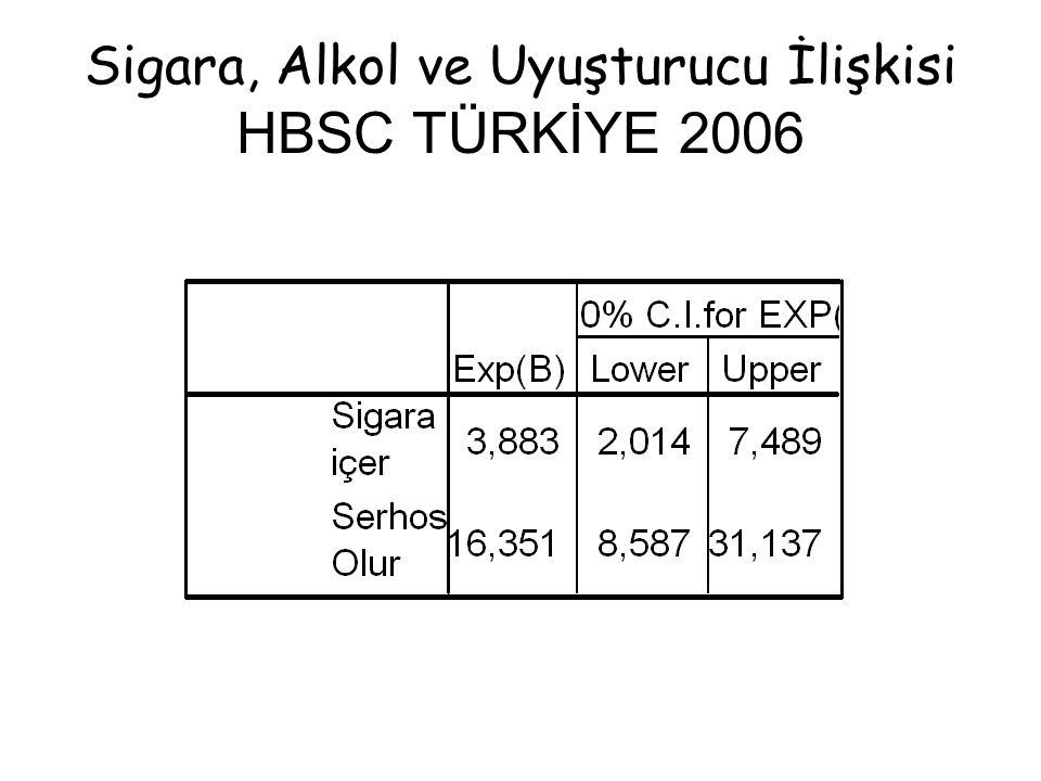 Sigara, Alkol ve Uyuşturucu İlişkisi HBSC TÜRKİYE 2006