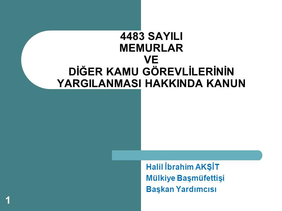 Halil İbrahim AKŞİT Mülkiye Başmüfettişi Başkan Yardımcısı