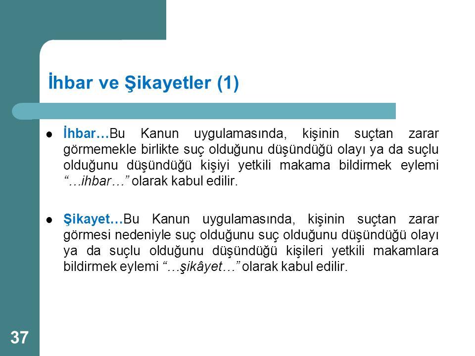 İhbar ve Şikayetler (1)