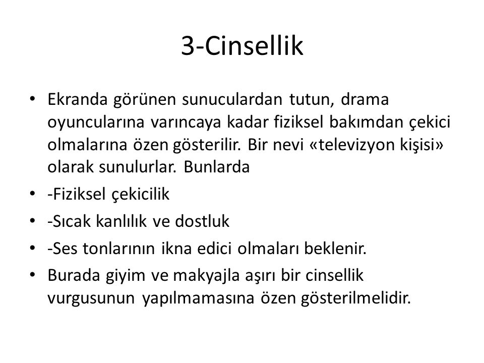 3-Cinsellik