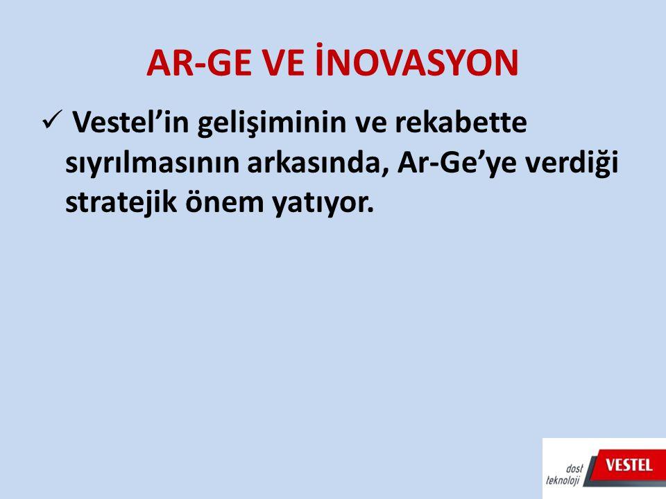 AR-GE VE İNOVASYON Vestel'in gelişiminin ve rekabette sıyrılmasının arkasında, Ar-Ge'ye verdiği stratejik önem yatıyor.