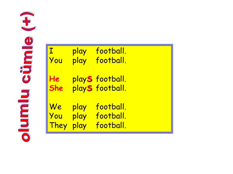 olumlu cümle (+) I play football. You play football.