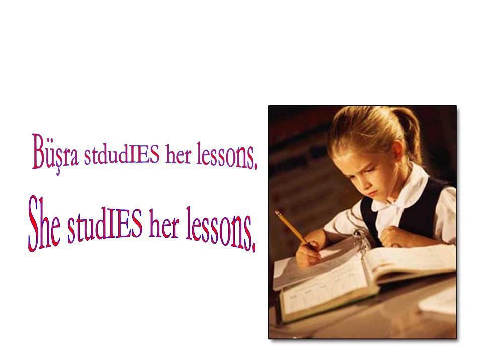 Büşra stdudIES her lessons.
