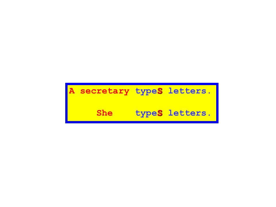 A secretary typeS letters.