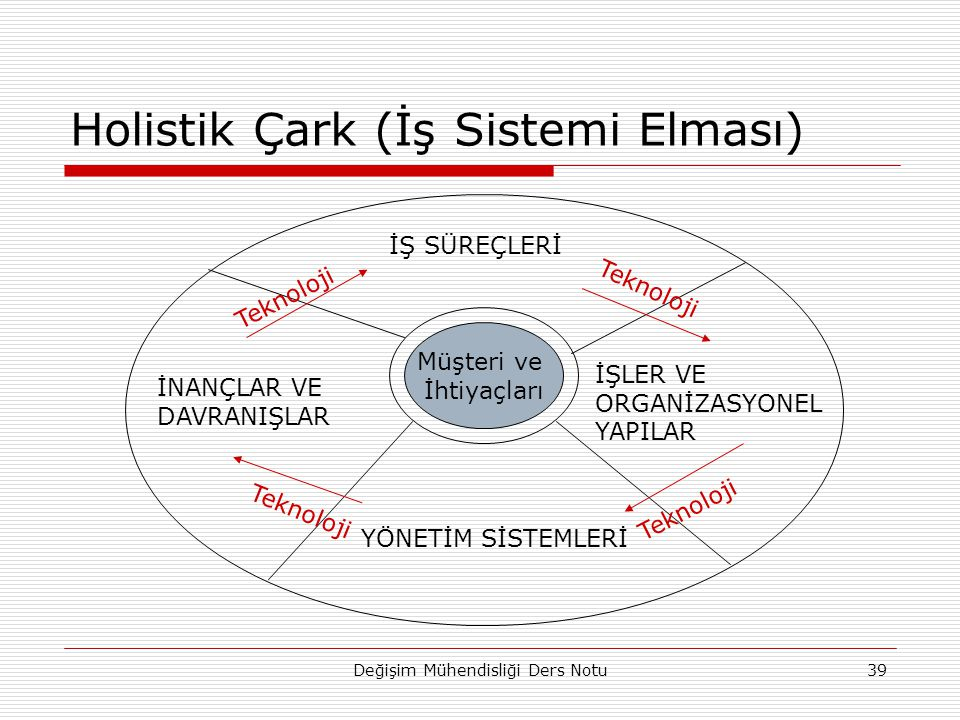 Holistik Çark (İş Sistemi Elması)