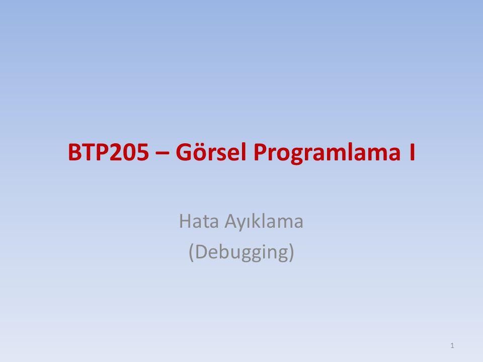 BTP205 – Görsel Programlama I