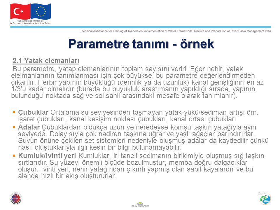 Parametre tanımı - örnek