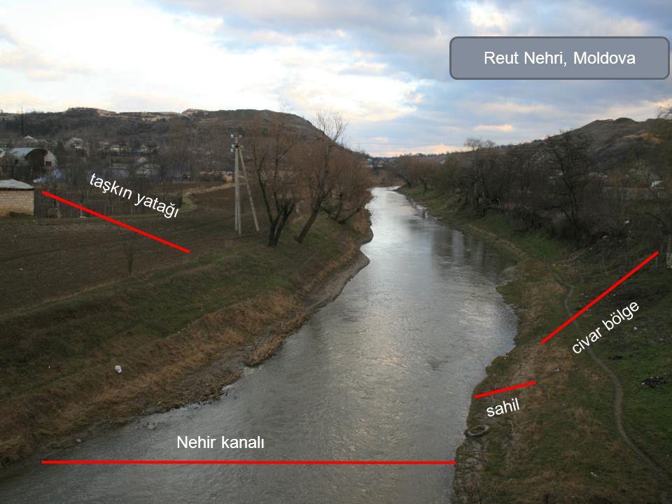 Reut Nehri, Moldova taşkın yatağı civar bölge sahil Nehir kanalı