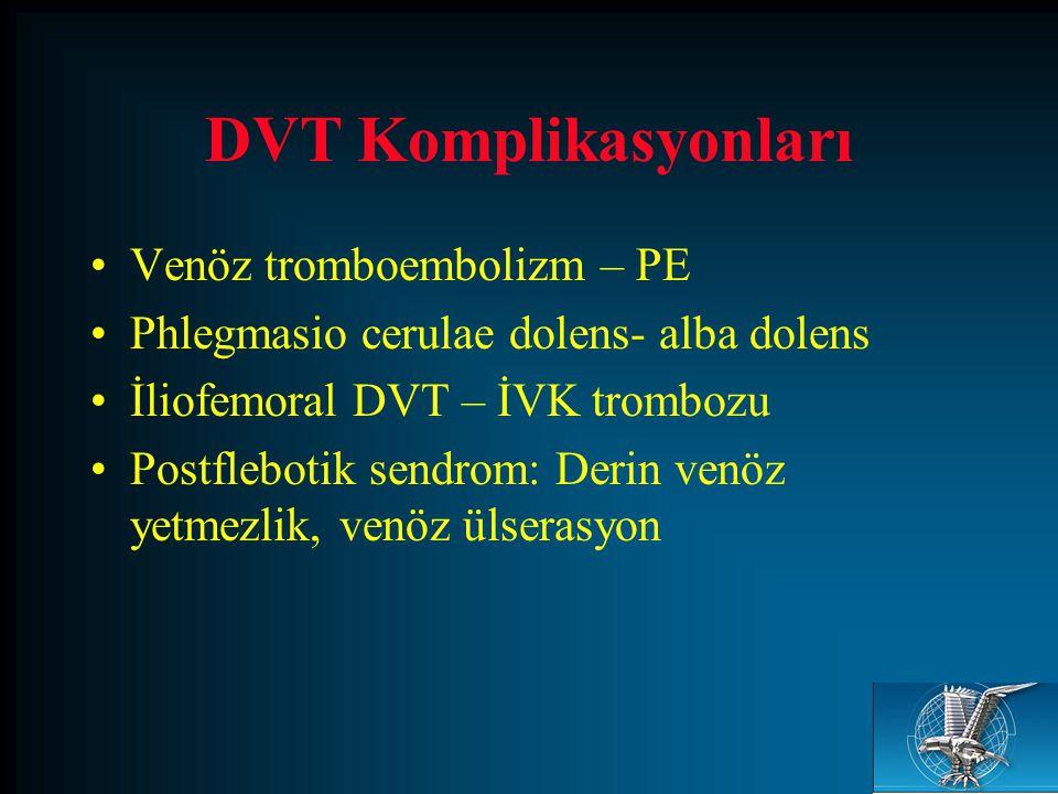 DVT Komplikasyonları Venöz tromboembolizm – PE