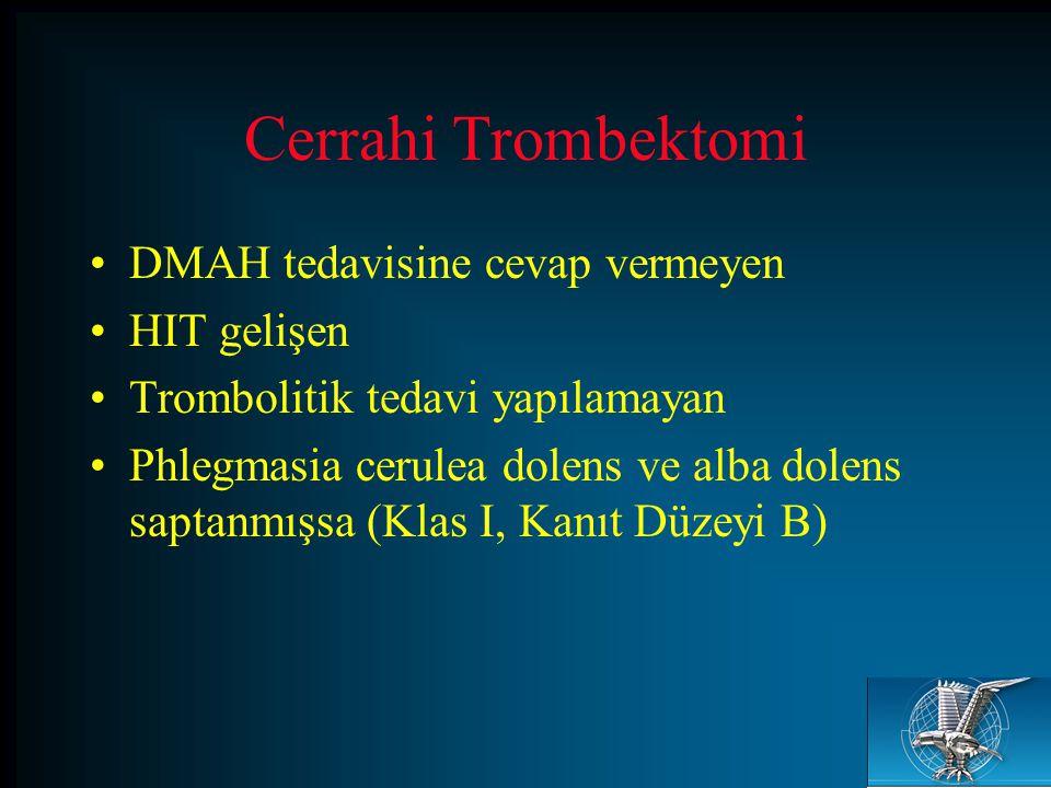 Cerrahi Trombektomi DMAH tedavisine cevap vermeyen HIT gelişen