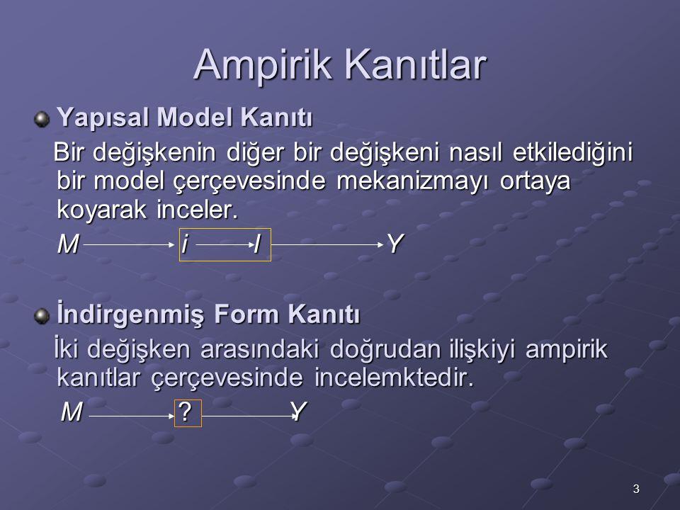 Ampirik Kanıtlar Yapısal Model Kanıtı