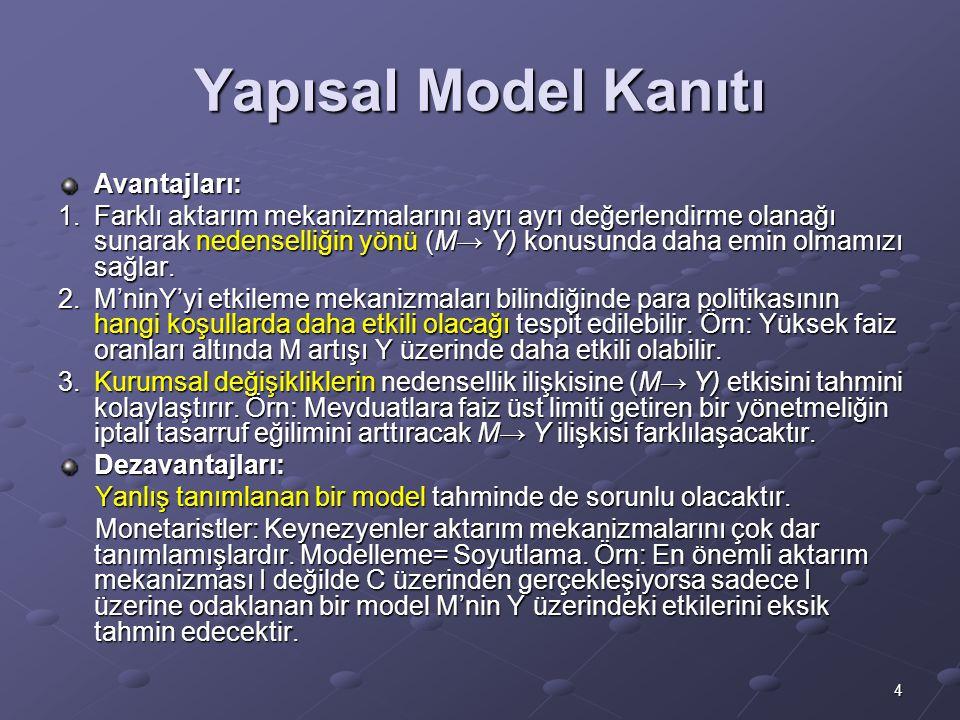 Yapısal Model Kanıtı Avantajları: