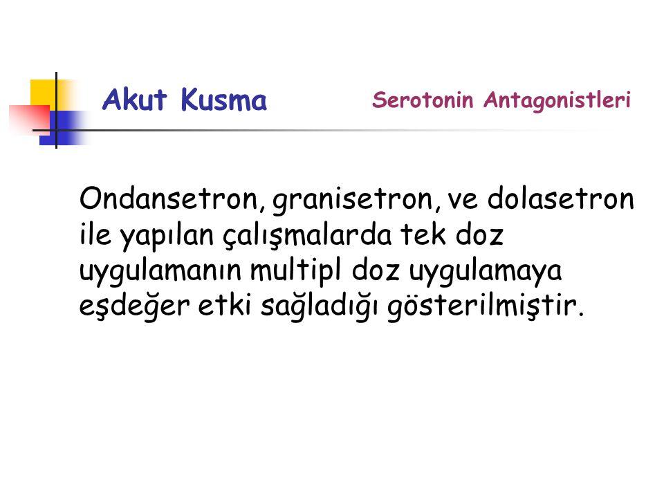 Akut Kusma Serotonin Antagonistleri.