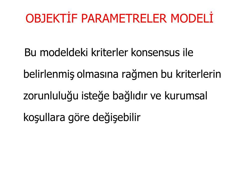 OBJEKTİF PARAMETRELER MODELİ