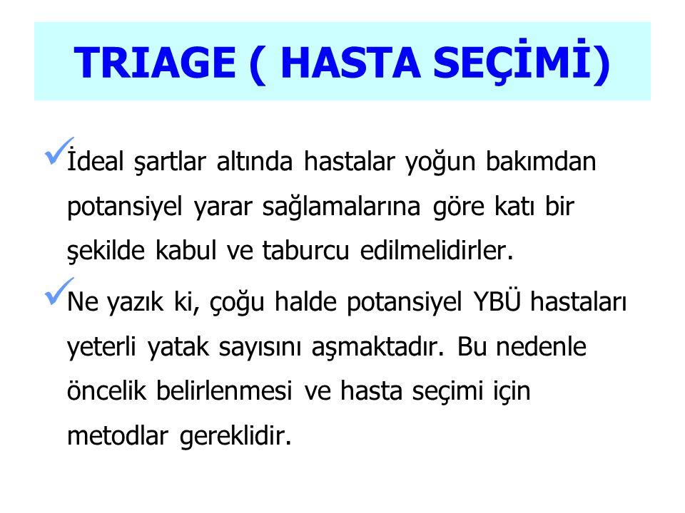 TRIAGE ( HASTA SEÇİMİ)