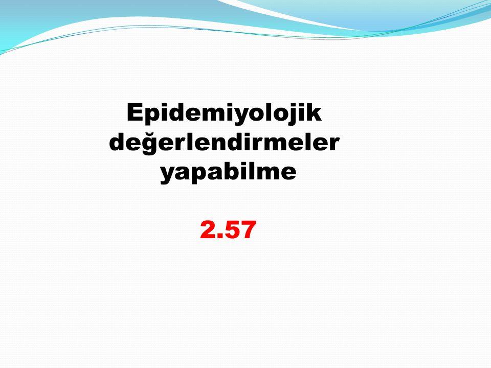 Epidemiyolojik değerlendirmeler yapabilme 2.57