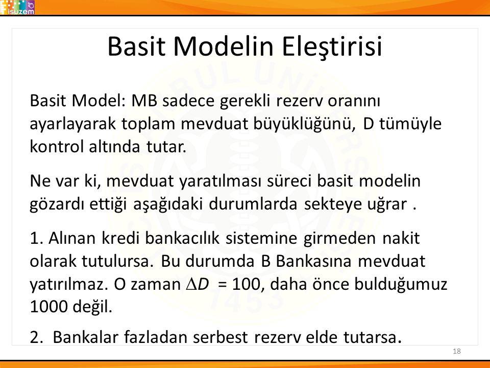 Basit Modelin Eleştirisi