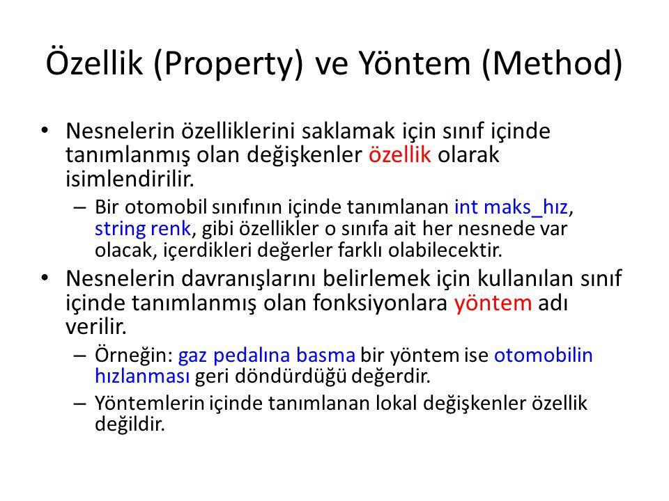 Özellik (Property) ve Yöntem (Method)