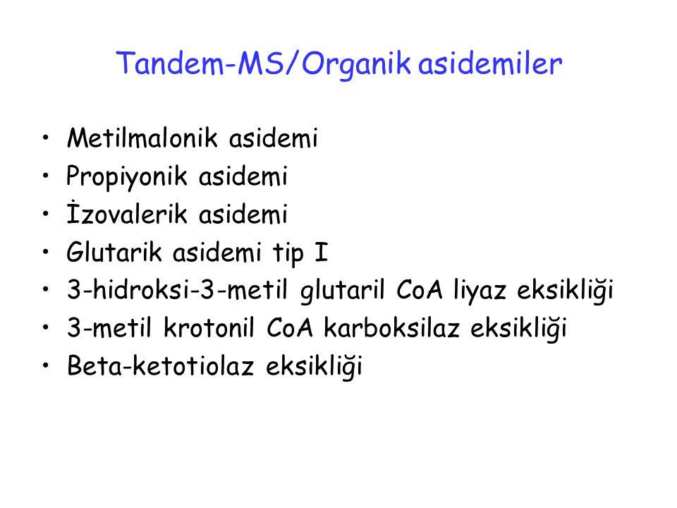Tandem-MS/Organik asidemiler