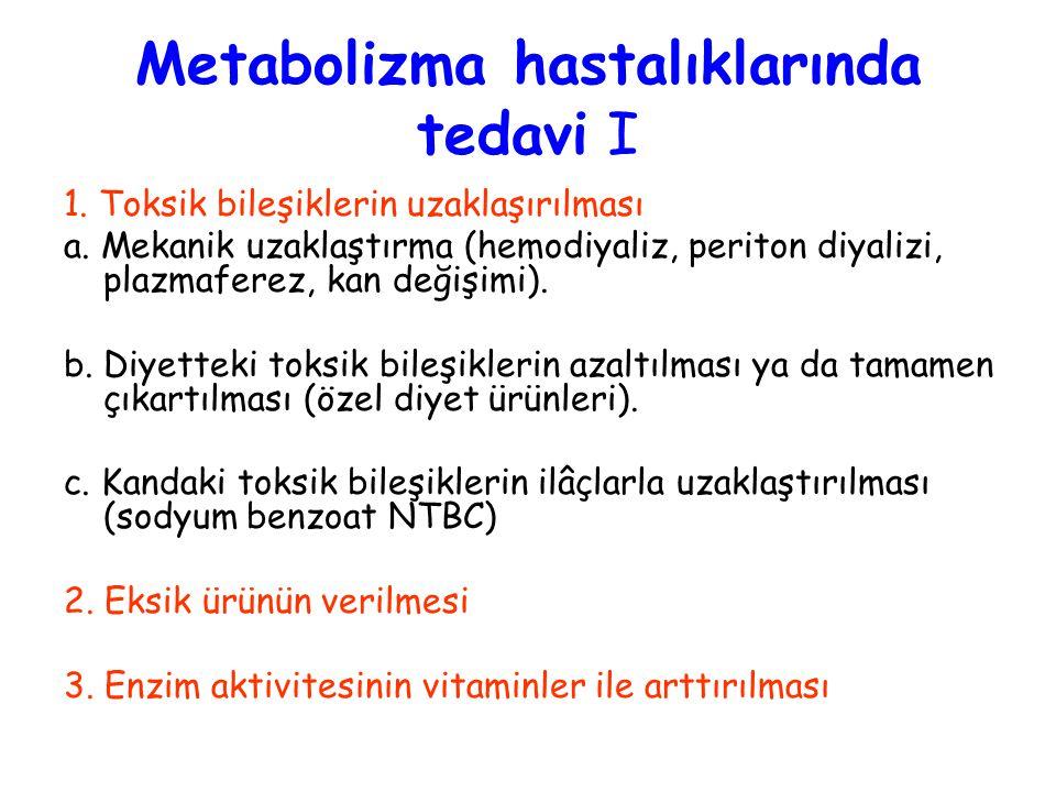 Metabolizma hastalıklarında tedavi I