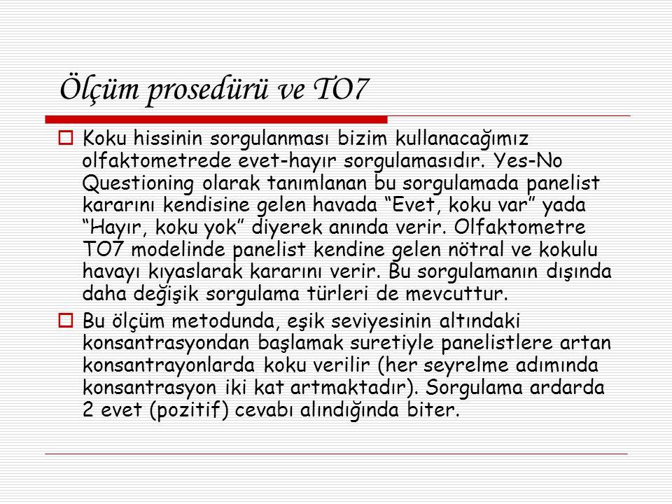 Ölçüm prosedürü ve TO7