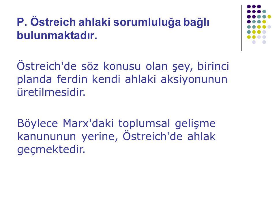 P. Östreich ahlaki sorumluluğa bağlı bulunmaktadır.