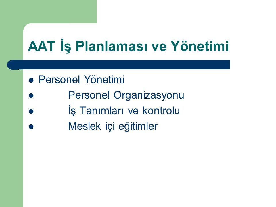 AAT İş Planlaması ve Yönetimi