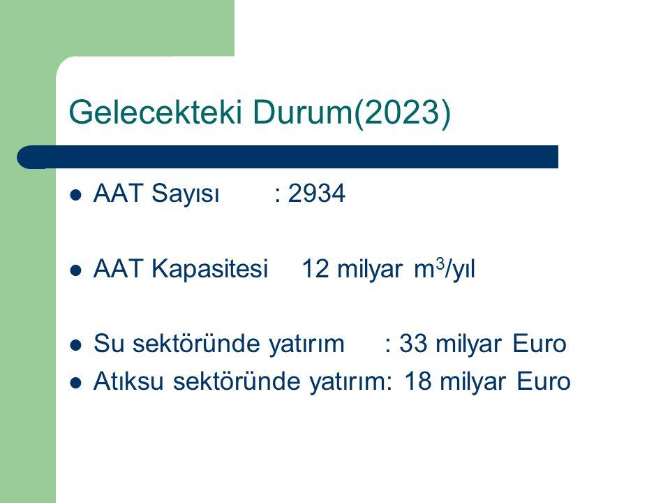 Gelecekteki Durum(2023) AAT Sayısı : 2934