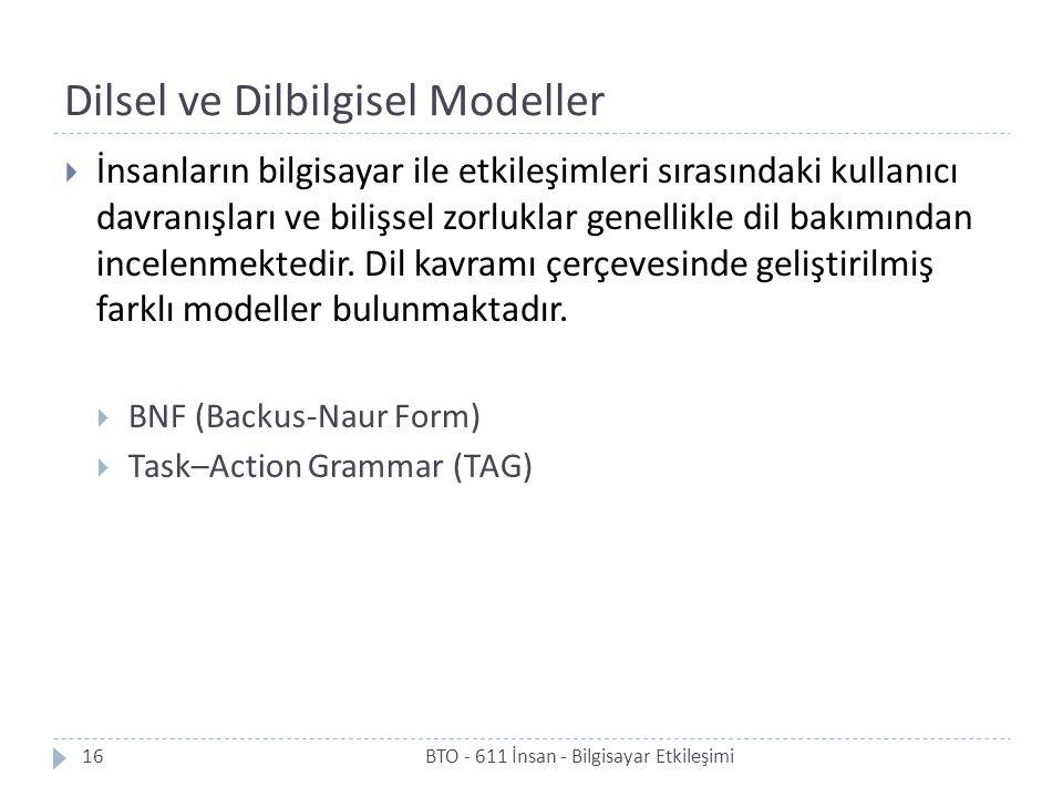 Dilsel ve Dilbilgisel Modeller