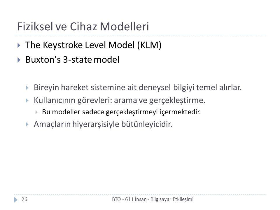 Fiziksel ve Cihaz Modelleri
