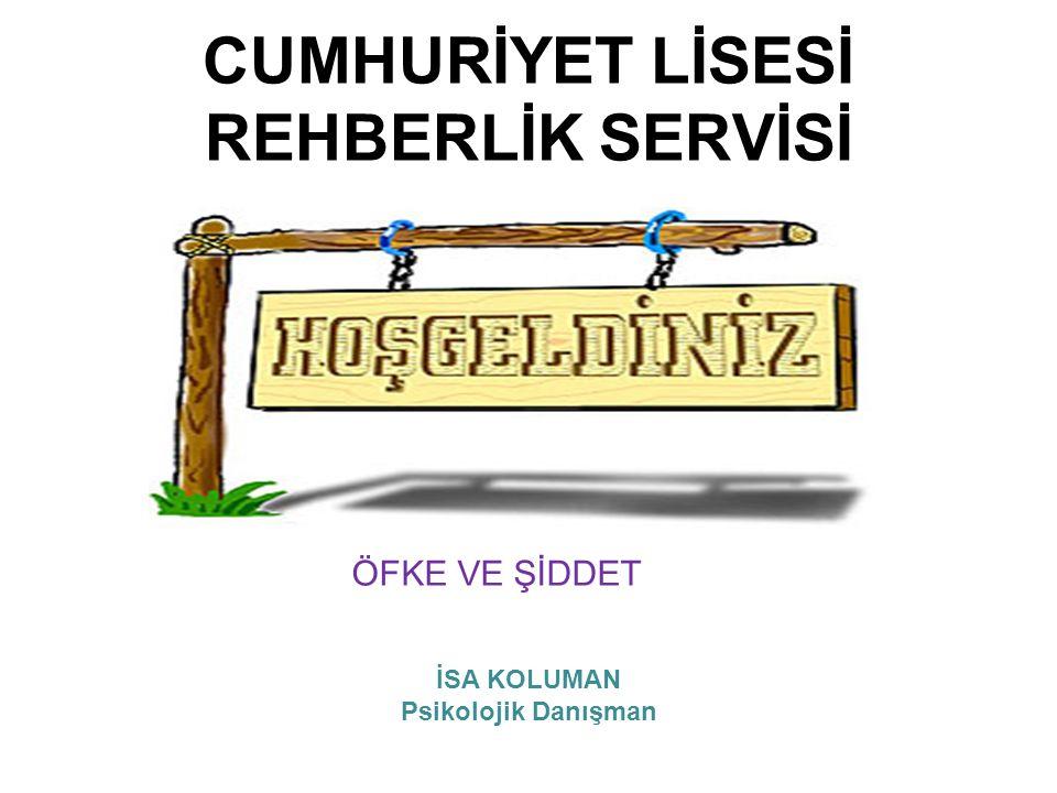 CUMHURİYET LİSESİ REHBERLİK SERVİSİ