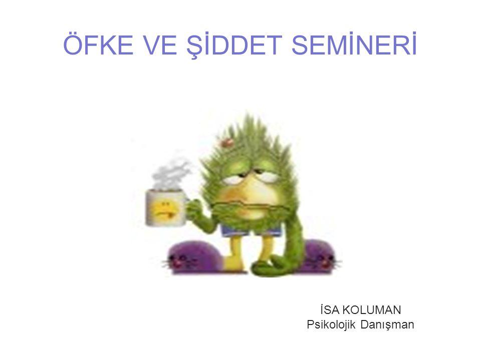 ÖFKE VE ŞİDDET SEMİNERİ