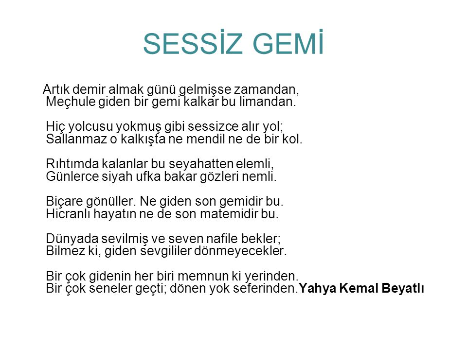 SESSİZ GEMİ