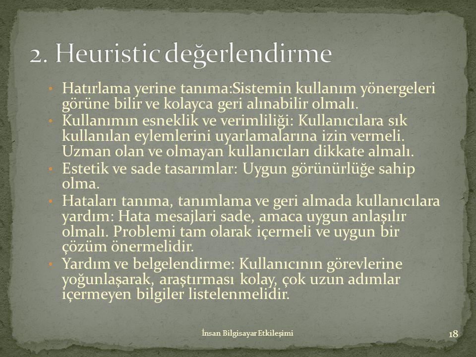 2. Heuristic değerlendirme