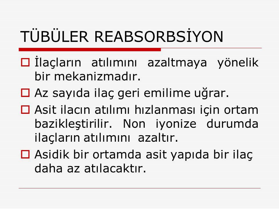 TÜBÜLER REABSORBSİYON
