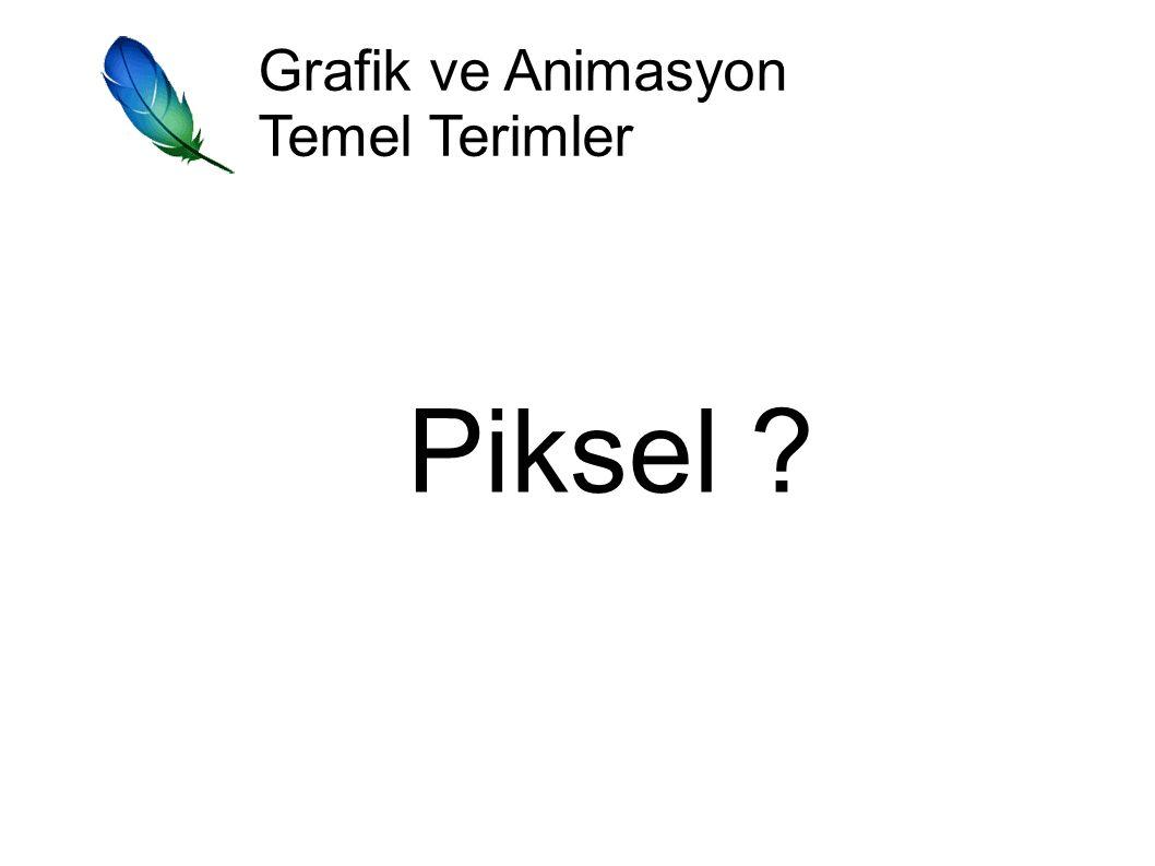 Grafik ve Animasyon Temel Terimler Piksel