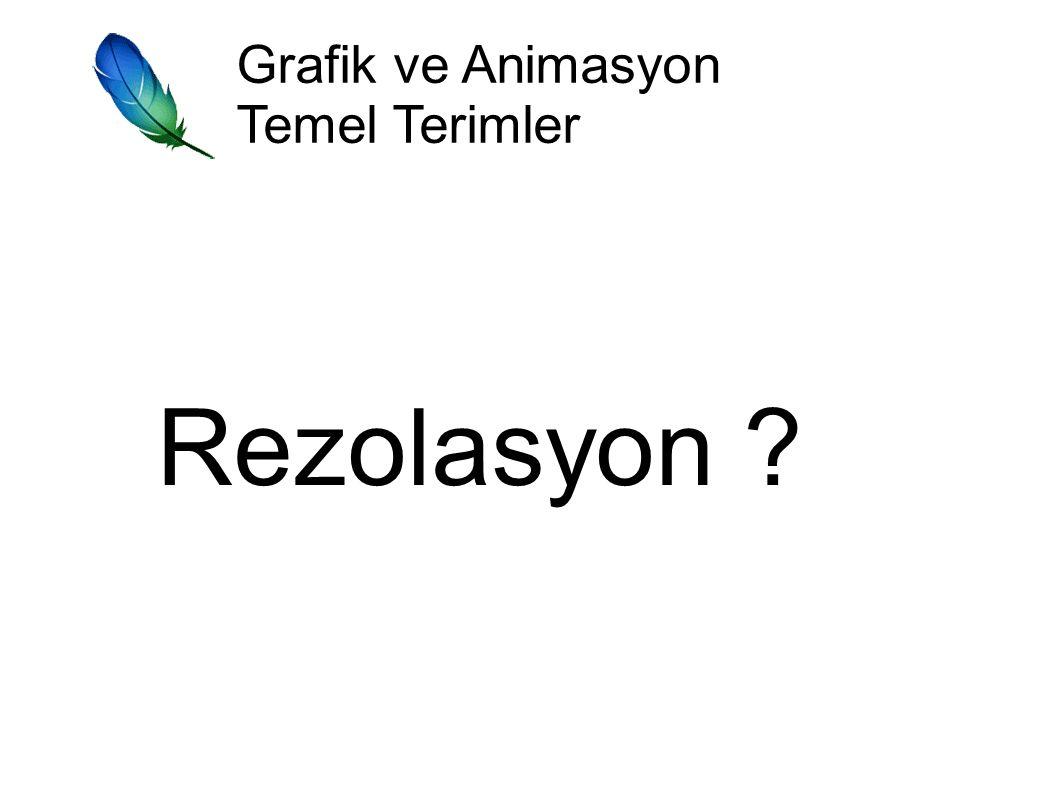 Grafik ve Animasyon Temel Terimler Rezolasyon