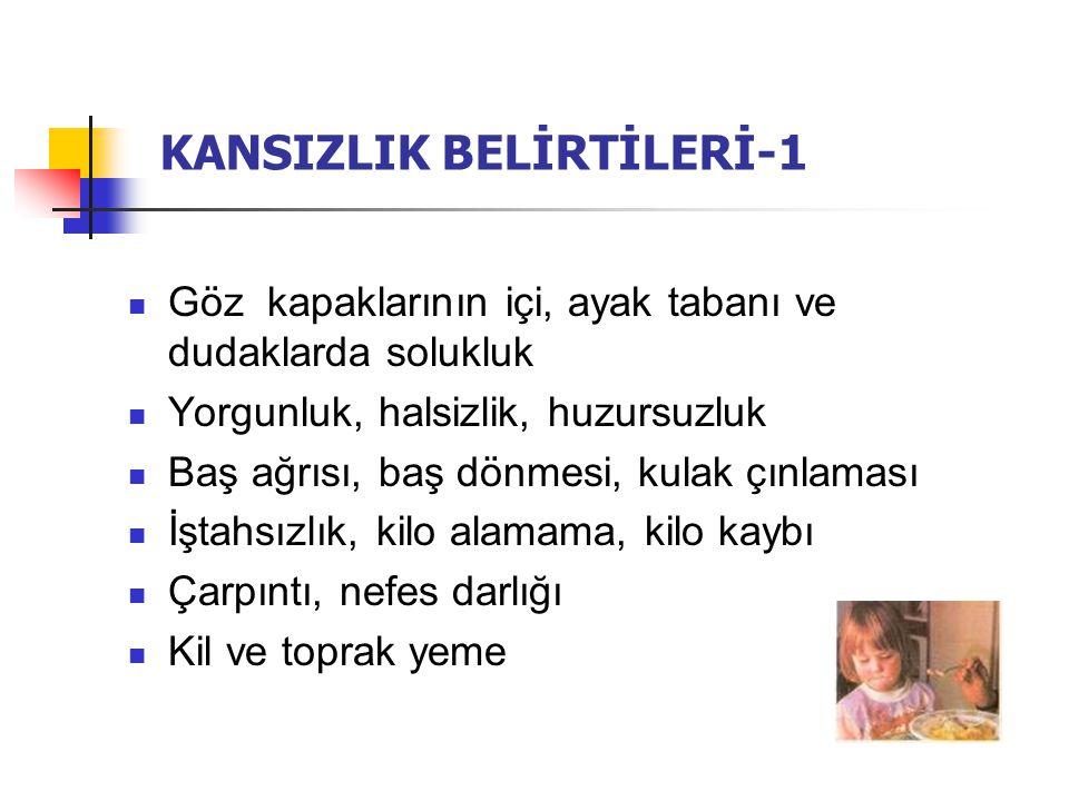 KANSIZLIK BELİRTİLERİ-1